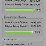La batería de mi MacBook, 29 meses, 216 ciclos de carga y…