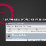 Navegando desde Debian Sid en mi MacBook vía iPhone 3G + Tethering + Blueman